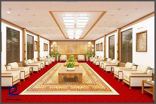 Màu sắc nội thất phòng khánh tiết vô cùng sang trọng, hài hòa
